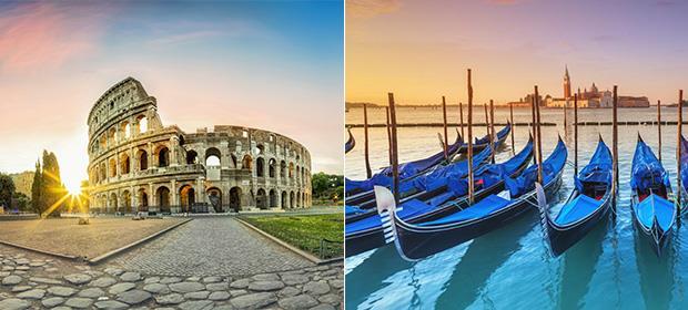4* Rome & Venice twin centre