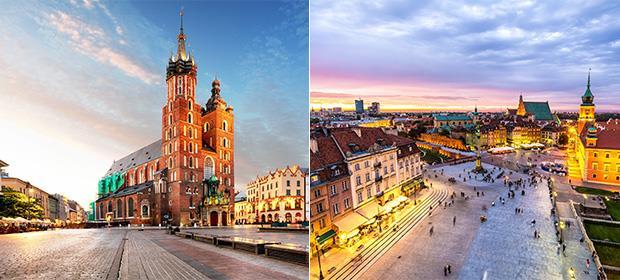 4* Krakow & Warsaw twin centre
