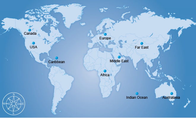 holiday destinations map